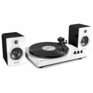 Fenton RP160BW Giradiscos y receptor Bluetooth B/N