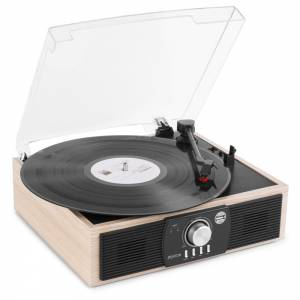 Fenton RP175LW Giradiscos y Bluetooth acabado madera oscura o clara USB
