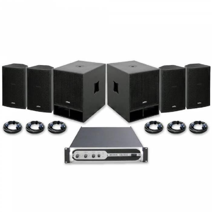 Sistema sonido VIBE-12 + VIBE-15 1800W JBSYSTEMS