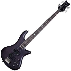 Schecter Stiletto Studio-4 See-Thru Black Satin STBLS
