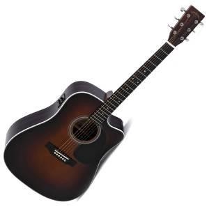 Guitarra Acústica Electrificada Sigma DTC-1STE SB+