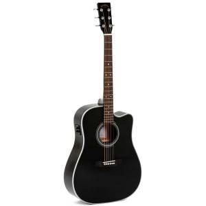 Guitarra Acústica Electrificada Sigma DMC-1STE-BK+