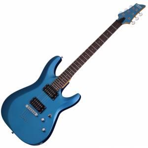 Schecter C-6 Deluxe Satin Metallic Blue SMLB