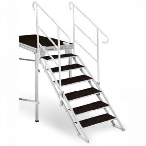 Escalera plegable hasta 1,8 metros para escenario