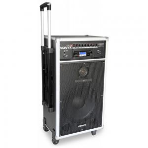 Sistema de sonido portátil con micrófonos