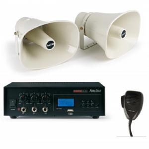 Amplificador megáfono con altavoces para vehículos