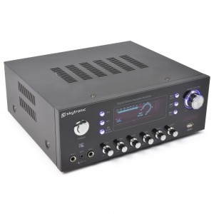 SkyTronic AV-120FM Amplificador estéreo Karaoke MP3