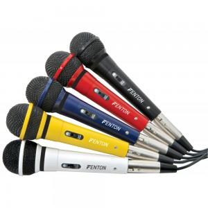 Micrófonos de colores para karaokes