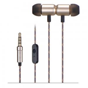 X4 Auriculares con micrófono dorado