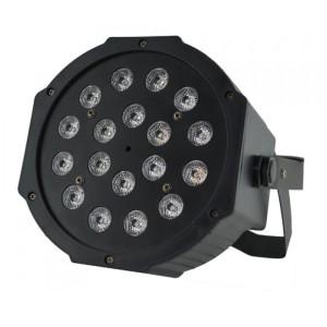 Proyector tipo PAR fino de 18W LED RGB