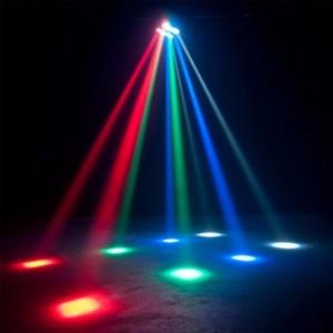 Efecto de 24 W LED RGB + blanco con 8 haces móviles