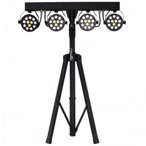 Barra de efectos con 4 proyectores PAR de 36 W LED RGB + blanco
