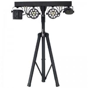 2 proyectores PAR de 36 W LED, efecto DERBY de 12 W LED y MINI LÁSER