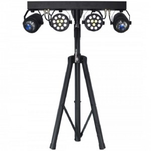 Barra efectos, 2 proyectores PAR 36 W LED y 2 efectos FLOWER 12 W LED