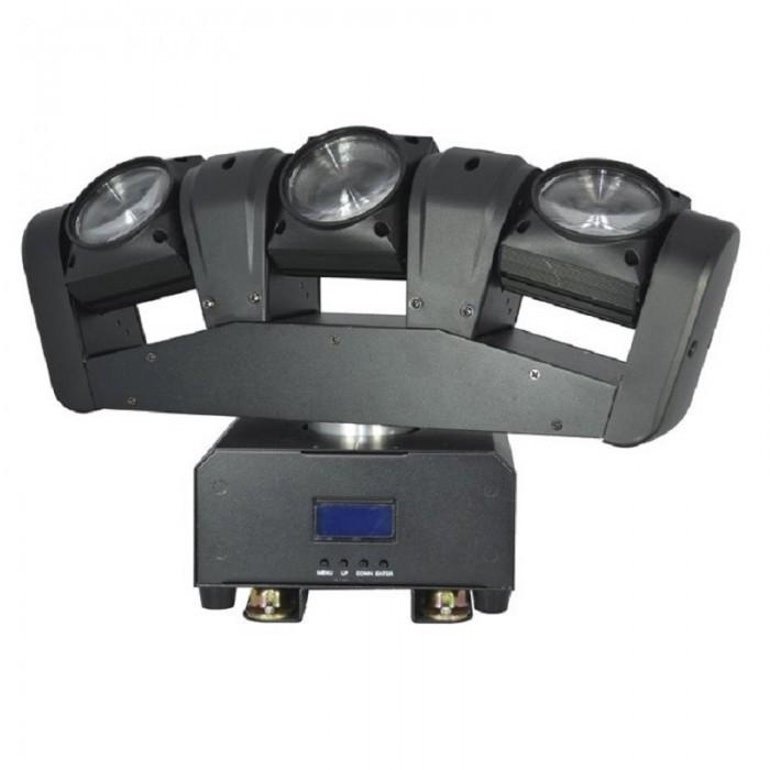 Cabeza móvil con 3 proyectores BEAM de 12 W LED