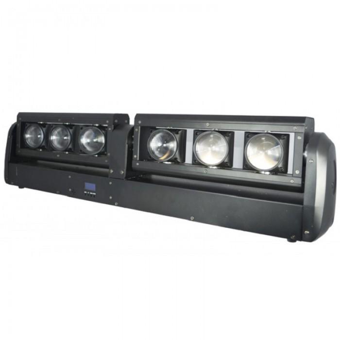 Barra doble con 6 proyectores BEAM de 12 W LED