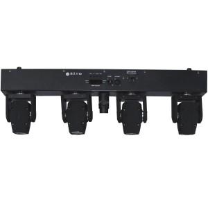 Barra con 4 mini cabezas móviles BEAM de 10 W LED
