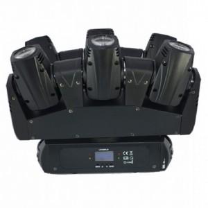 Cabeza móvil compuesta por 6 mini cabezas BEAM de 10 W LED RGBW