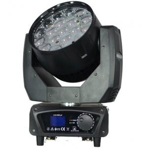 Cabeza móvil WASH de 285W LED RGBW con efecto backlight RGB y zoom